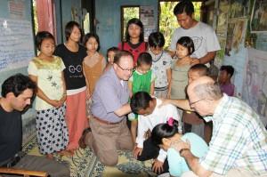Praying over Pastor Thang Khen Mang, Naga Tribe pastor
